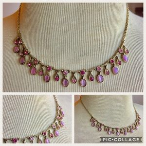 Pink gold dangle necklace